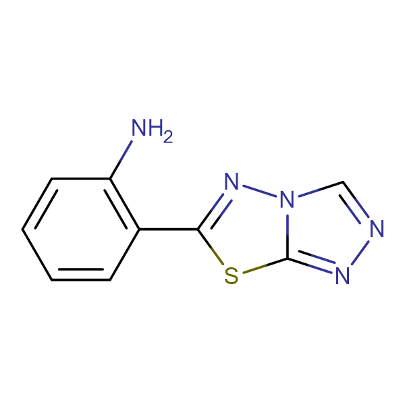 (2-[1,2,4]triazolo[3,4-b][1,3,4]thiadiazol-6-ylphenyl)amine