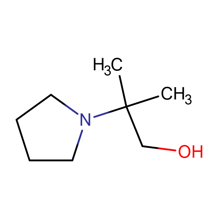 2-methyl-2-(1-pyrrolidinyl)-1-propanol