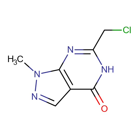6-(chloromethyl)-1-methyl-1,5-dihydro-4H-pyrazolo[3,4-d]pyrimidin-4-one