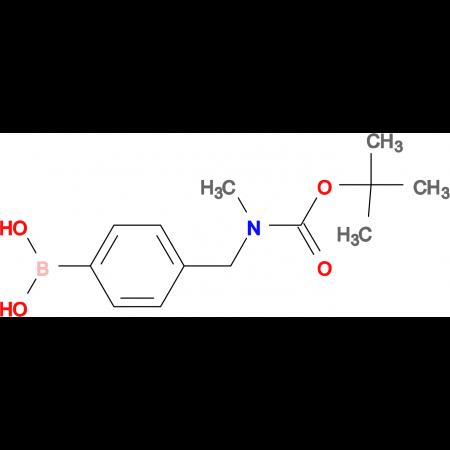 (4-{[(tert-butoxycarbonyl)(methyl)amino]methyl}phenyl)boronic acid