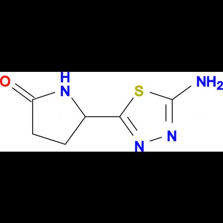 5-(5-amino-1,3,4-thiadiazol-2-yl)-2-pyrrolidinone