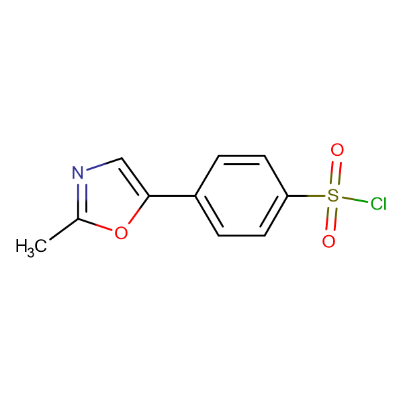 4-(2-methyl-1,3-oxazol-5-yl)benzenesulfonyl chloride