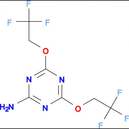 4,6-bis(2,2,2-trifluoroethoxy)-1,3,5-triazin-2-amine