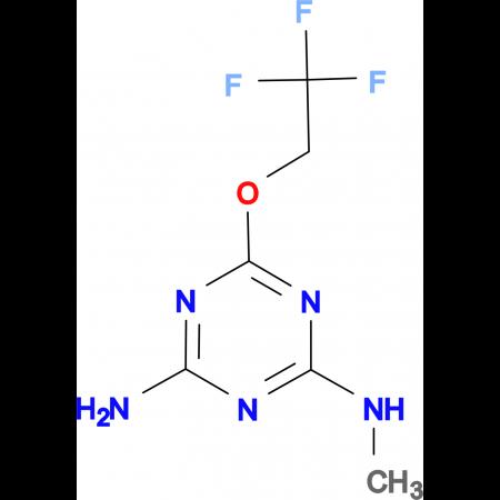 N-methyl-6-(2,2,2-trifluoroethoxy)-1,3,5-triazine-2,4-diamine