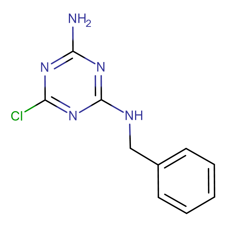 N-benzyl-6-chloro-1,3,5-triazine-2,4-diamine