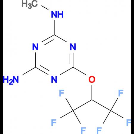 N-methyl-6-[2,2,2-trifluoro-1-(trifluoromethyl)ethoxy]-1,3,5-triazine-2,4-diamine