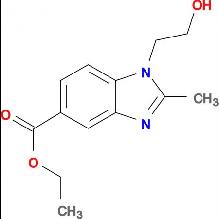 ethyl 1-(2-hydroxyethyl)-2-methyl-1H-benzimidazole-5-carboxylate