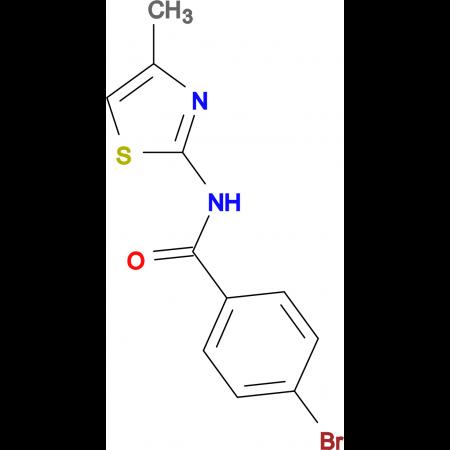 4-bromo-N-(4-methyl-1,3-thiazol-2-yl)benzamide