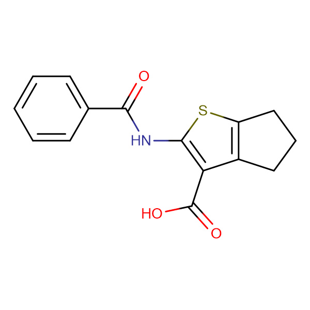 2-(benzoylamino)-5,6-dihydro-4H-cyclopenta[b]thiophene-3-carboxylic acid