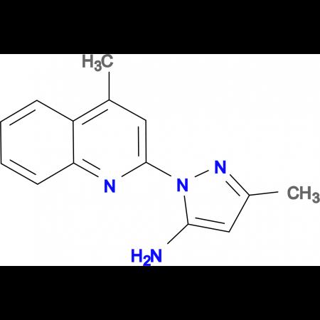 3-methyl-1-(4-methyl-2-quinolinyl)-1H-pyrazol-5-amine