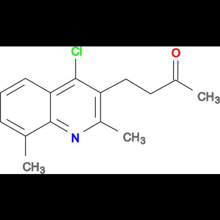 4-(4-chloro-2,8-dimethylquinolin-3-yl)butan-2-one