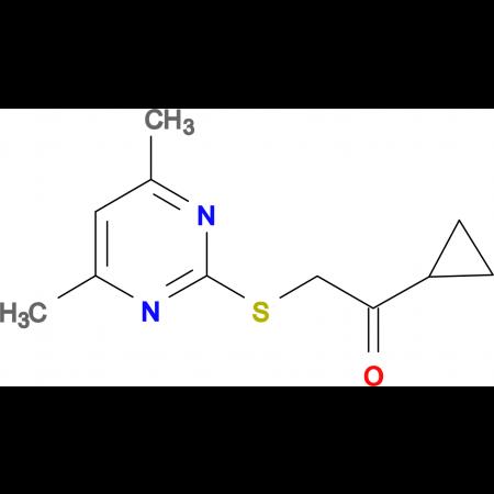 1-cyclopropyl-2-[(4,6-dimethylpyrimidin-2-yl)thio]ethanone