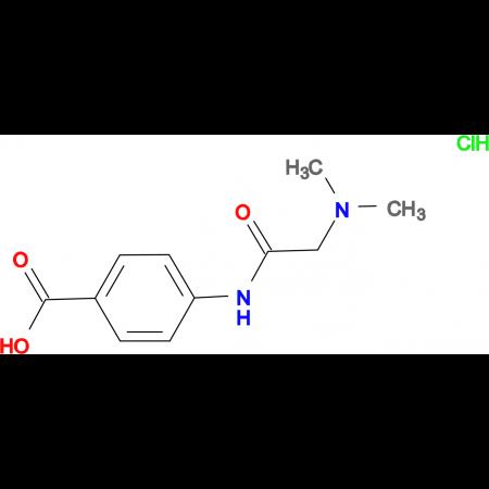 4-[(N,N-dimethylglycyl)amino]benzoic acid hydrochloride