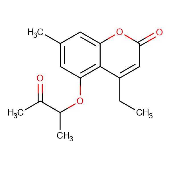 4-ethyl-7-methyl-5-(1-methyl-2-oxopropoxy)-2H-chromen-2-one