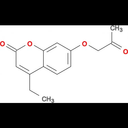 4-ethyl-7-(2-oxopropoxy)-2H-chromen-2-one