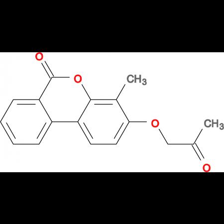 4-methyl-3-(2-oxopropoxy)-6H-benzo[c]chromen-6-one