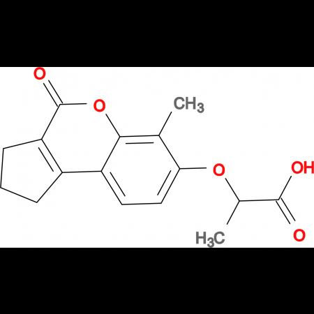 2-[(6-methyl-4-oxo-1,2,3,4-tetrahydrocyclopenta[c]chromen-7-yl)oxy]propanoic acid