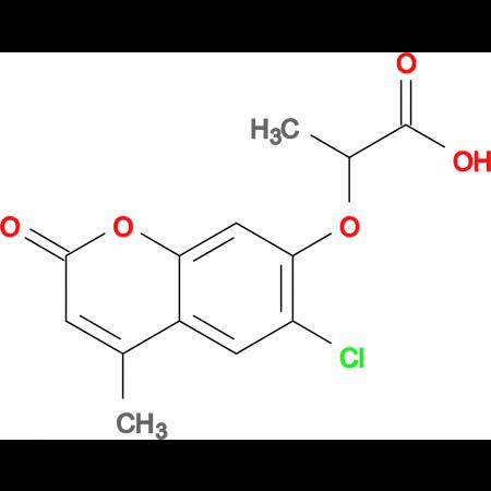 2-[(6-chloro-4-methyl-2-oxo-2H-chromen-7-yl)oxy]propanoic acid