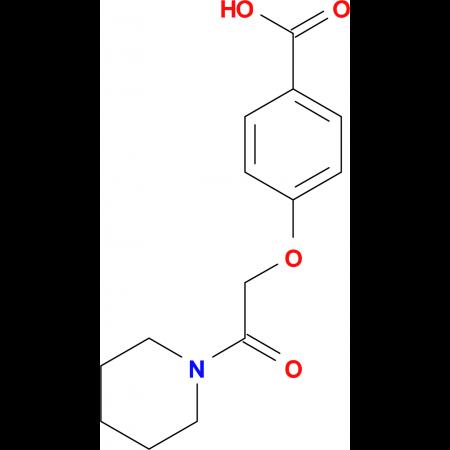 4-(2-oxo-2-piperidin-1-ylethoxy)benzoic acid