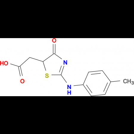 {2-[(4-methylphenyl)amino]-4-oxo-4,5-dihydro-1,3-thiazol-5-yl}acetic acid