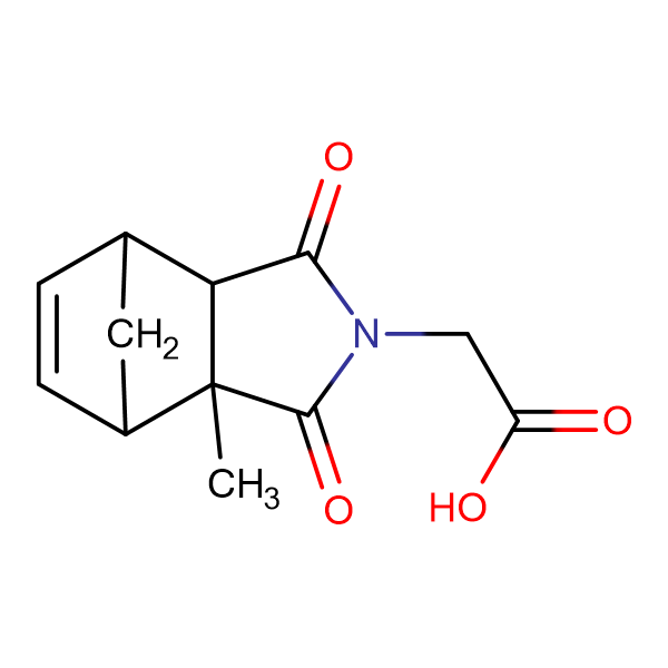 (2-methyl-3,5-dioxo-4-azatricyclo[5.2.1.0~2,6~]dec-8-en-4-yl)acetic acid