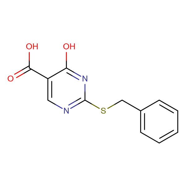 2-(benzylthio)-4-hydroxy-5-pyrimidinecarboxylic acid