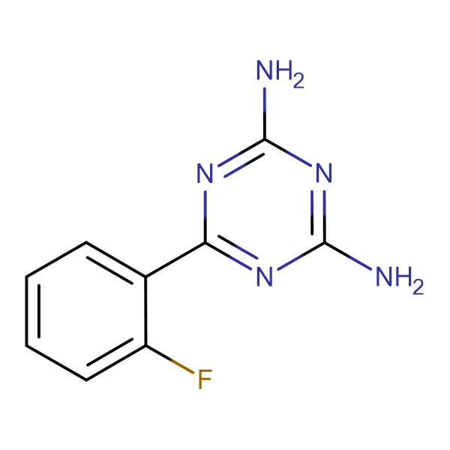 6-(2-Fluorophenyl)-[1,3,5]triazine-2,4-diamine