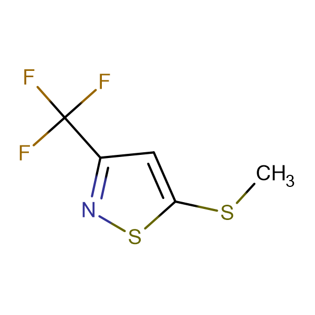 5-(Methylthio)-3-(trifluoromethyl)isothiazole