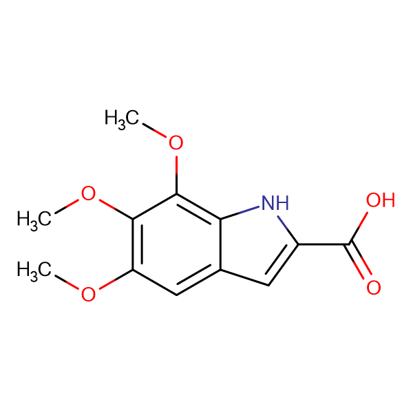 5,6,7-Trimethoxy-1H-indole-2-carboxylic acid