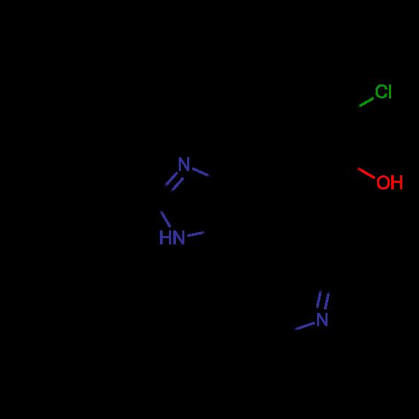 2-Chloro-5-(2-phenyl-5-(pyridin-4-yl)-1H-imidazol-4-yl)phenol