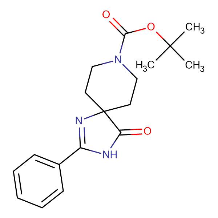 tert-Butyl 4-oxo-2-phenyl-1,3,8-triazaspiro[4.5]dec-1-ene-8-carboxylate