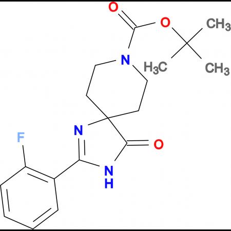 tert-Butyl2-(2-fluorophenyl)-4-oxo-1,3,8-triazaspiro[4.5]dec-1-ene-8-carboxylate