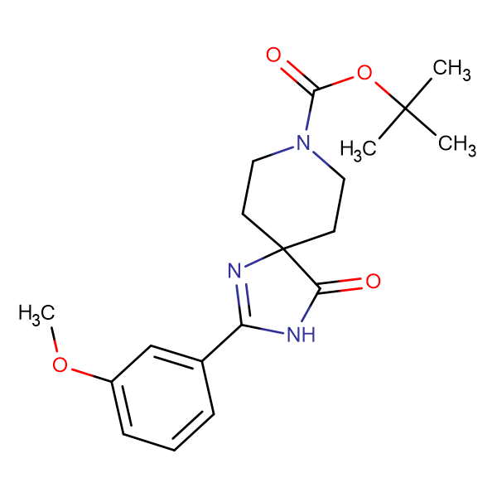 tert-Butyl2-(3-methoxyphenyl)-4-oxo-1,3,8-triazaspiro[4.5]dec-1-ene-8-carboxylate