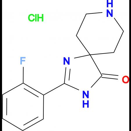 2-(2-Fluorophenyl)-1,3,8-triazaspiro[4.5]dec-1-en-4-one hydrochloride
