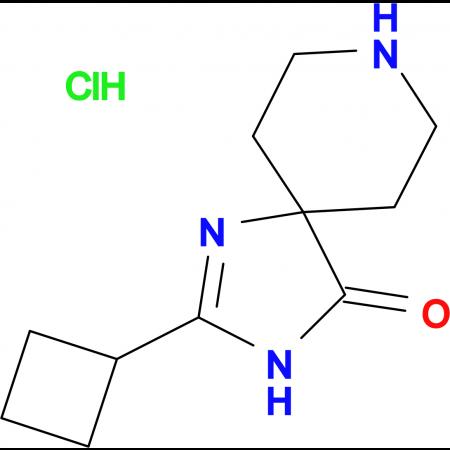 2-Cyclobutyl-1,3,8-triazaspiro[4.5]dec-1-en-4-one hydrochloride