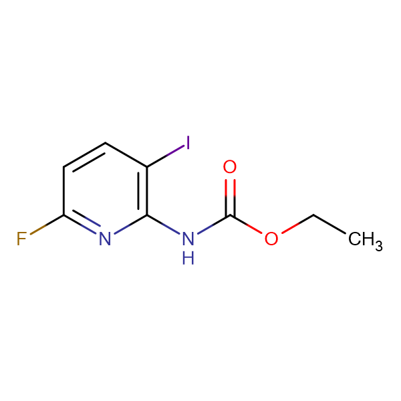 ETHYL 6-FLUORO-3-IODOPYRIDIN-2-YLCARBAMATE