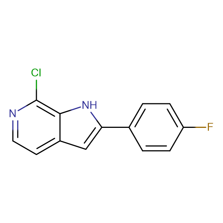 7-CHLORO-2-(4-FLUOROPHENYL)-1H-PYRROLO[2,3-C]PYRIDINE