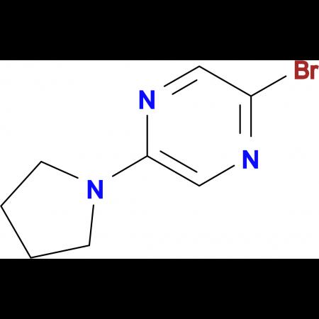 2-Bromo-5-(pyrrolidin-1-yl)pyrazine