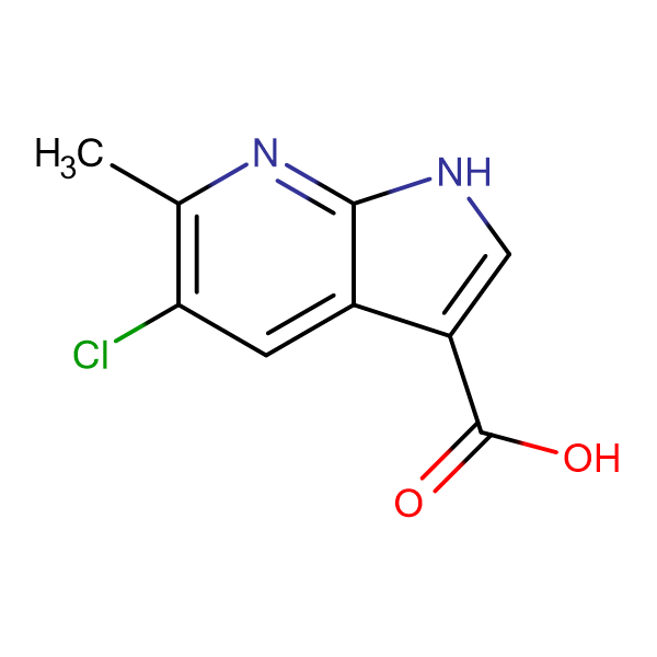 5-Chloro-6-methyl-1H-pyrrolo[2,3-b]pyridine-3-carboxylic acid