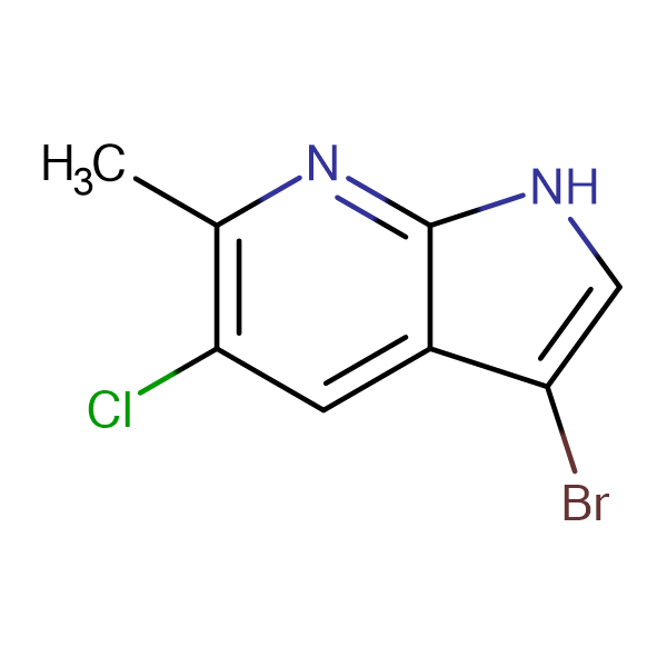 3-Bromo-5-chloro-6-methyl-1H-pyrrolo[2,3-b]pyridine