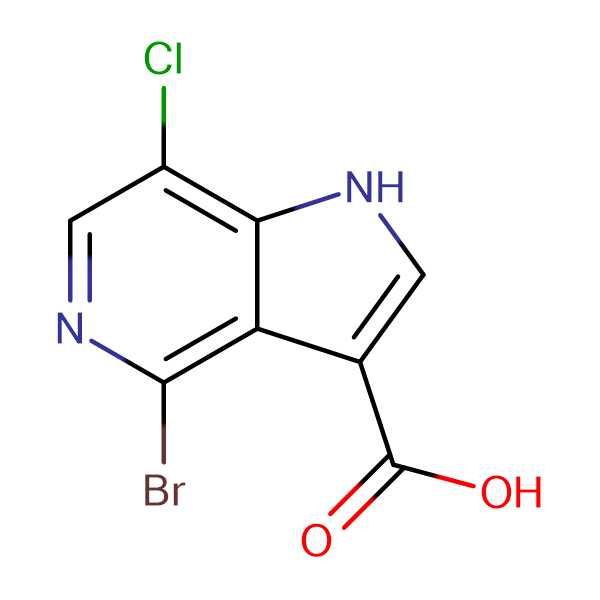 4-Bromo-7-chloro-1H-pyrrolo[3,2-c]pyridine-3-carboxylic acid