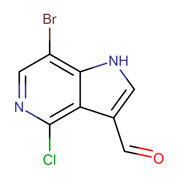 7-Bromo-4-chloro-1H-pyrrolo[3,2-c]pyridine-3-carbaldehyde