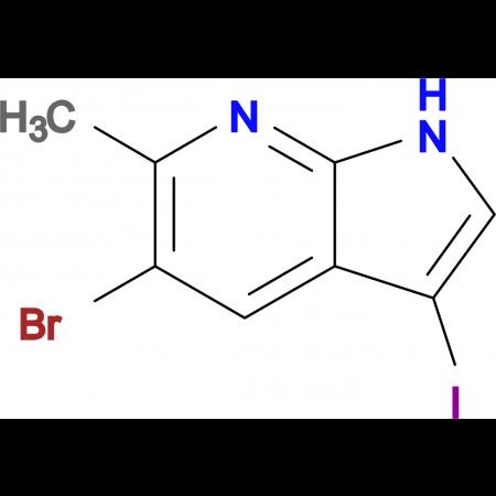 5-Bromo-3-iodo-6-methyl-1H-pyrrolo[2,3-b]pyridine