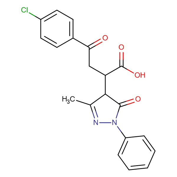 4-(4-Chlorophenyl)-2-(3-methyl-5-oxo-1-phenyl(2-pyrazolin-4-yl))-4-oxobutanoic acid, 95%