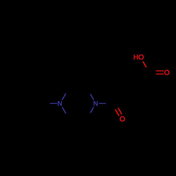 4-Oxo-4-(4-benzylpiperazinyl)but-2-enoic acid, 95%