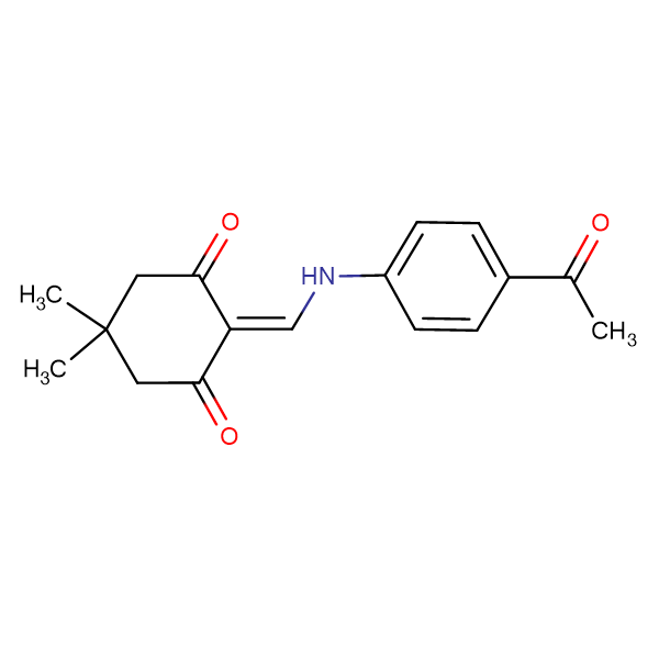 2-(((4-acetylphenyl)amino)methylene)-5,5-dimethylcyclohexane-1,3-dione, 95%