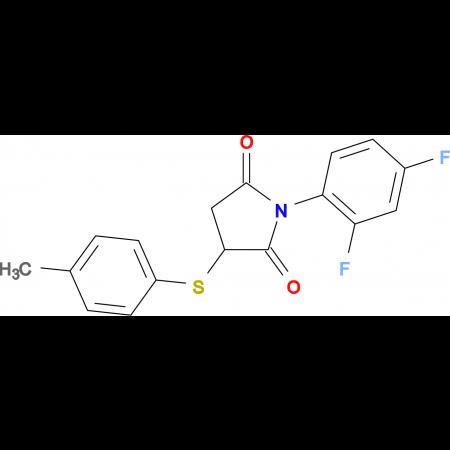 1-(2,4-Difluorophenyl)-3-(p-tolylthio)pyrrolidine-2,5-dione