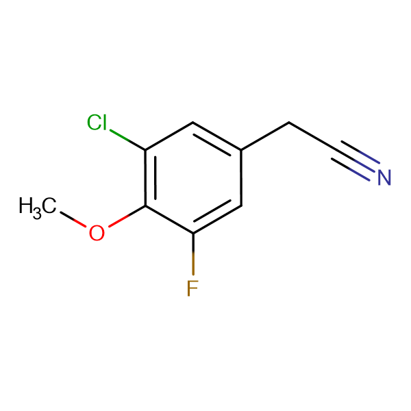 3-Chloro-5-fluoro-4-methoxyphenylacetonitrile