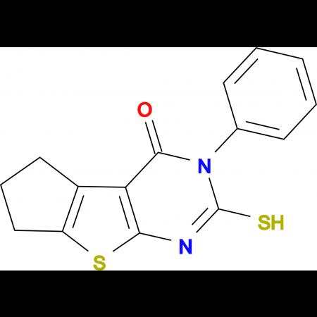6-Mercapto-5-phenyl-1,2,3,5-tetrahydro-8-thia-5,7-diaza-cyclopenta[a]inden-4-one