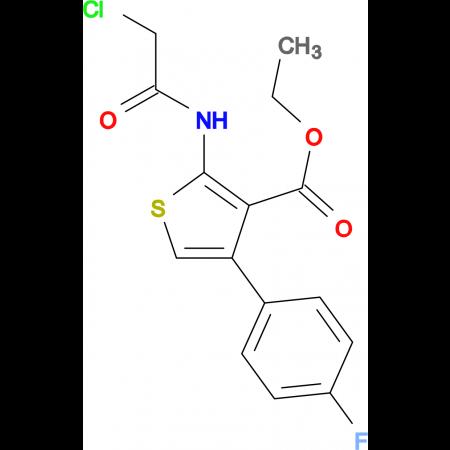 2-(2-Chloro-acetylamino)-4-(4-fluoro-phenyl)-thiophene-3-carboxylic acid ethyl ester